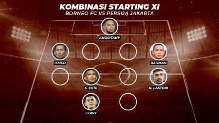 Kombinasi Starting XI Borneo FC vs Persija Jakarta. - INDOSPORT