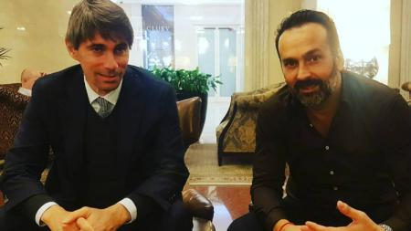 Fabio Lopez dan Ricky Massara, AS Roma Sport Director - INDOSPORT