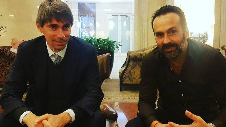 Fabio Lopez dan Ricky Massara, AS Roma Sport Director Copyright: instagram.com/lopezofficial1/