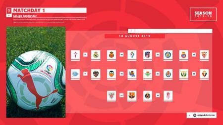 Jadwal pertandingan pekan pertama LaLiga Spanyol 2019/20. - INDOSPORT