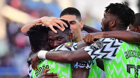 Nigeria menang atas Kamerun dalam laga 16 besar Piala Afrika 2019. - INDOSPORT