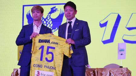 Nguyen Cong Phuong diperkenalkan secara resmi sebagai pemain STVV. - INDOSPORT
