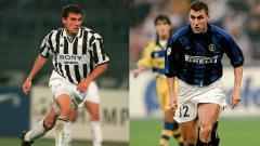Indosport - Christian Vieri saat berseragam Juventus dan Inter Milan.