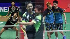 Indosport - Tiga ganda putra Indonesia (Angga Pratama/Ricky Karanda, Mohammad Ahsan/Hendra Ahsan, dan Kevin Sanjaya/Marcus Gideon).