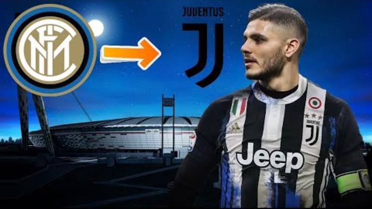 Mauro Icardi akan segera meninggalkan Inter Milan dan gabung Juventus di bursa transfer musim panas 2019 Copyright: Youtube.com/Dome04