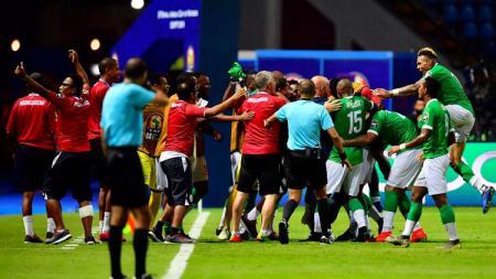 Madagaskar sukses melenggang ke babak perempatfinal Piala Afrika 2019. - INDOSPORT
