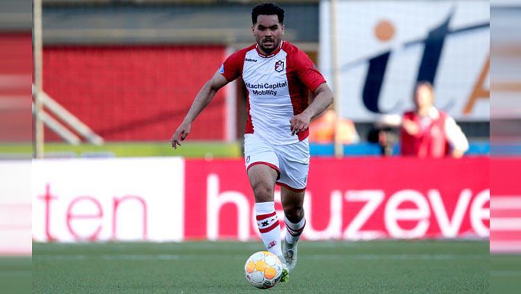 Pemain FC Emmen Keziah Veendorp yang memiliki darah keturunan Indonesia Copyright: Peter Lous/Soccrates/Getty Images