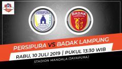 Indosport - Pertandingan Persipura Jayapura vs Badak Lampung. Grafis: Indosport.com