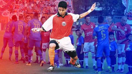 Debut Bambang Pamungkas di Persija, saat melawan Persib. Foto: tabliod bola/Simamaung - INDOSPORT