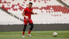Indosport - Official Training tim Persija Jakarta jelang laga Liga 1 lawan Persib Bandung di Stadion GBK Jakarta, Selasa (09/07/19). Foto: Herry Ibrahim/INDOSPORT