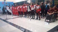 Indosport - Pelepasan 5 kontingen olahraga oleh DISORDA DKI Jakarta