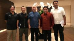 Indosport - Para pengurus Timnas Basket Putra Indonesia.