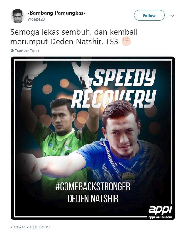 Bambang Pamungkas menyampaikan pesan berkelas kepada M. Natshir usai laga Persija Jakarta vs Persib Bandung, Rabu (10/07/19), di GBK Copyright: Twitter/@bepe20