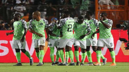 Selebrasi gol kemenangan Nigeria atas Afrika Selatan - INDOSPORT