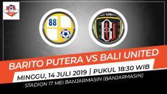 Indosport - Pertandingan Barito Putera vs Bali United. Grafis: Indosport.com