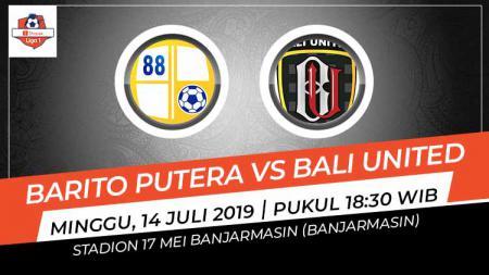Pertandingan Barito Putera vs Bali United. Grafis: Indosport.com - INDOSPORT