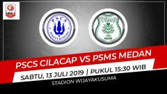 Indosport - Pertandingan PSCS Cilacap vs PSMS Medan. Grafis: Indosport.com