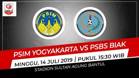 Pertandingan PSIM Yogyakarta vs PSBS Biak di Liga 2 2019. - INDOSPORT