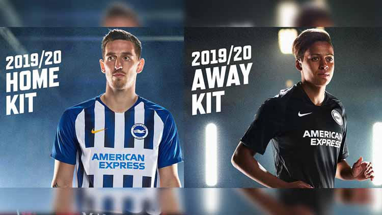 Jersey Home & Away Brighton & Hove Albion 2019/20 Copyright: fourfourtwo