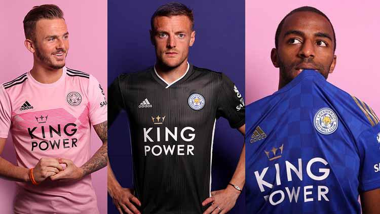 Jersey Home, Away, & 3rd Leicester City 2019/20 Copyright: fourfourtwo
