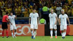 Indosport - Rodrigo de Paul (tengah) saat bersama Timnas Argentina