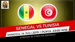 Indosport - Pertandingan Senegal vs Tunisia.