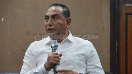 Gubernur Sumut yang juga Dewan Penasehat PSMS Medan, Edy Rahmayadi, mengapresiasi peraih medali di SEA Games 2019. - INDOSPORT