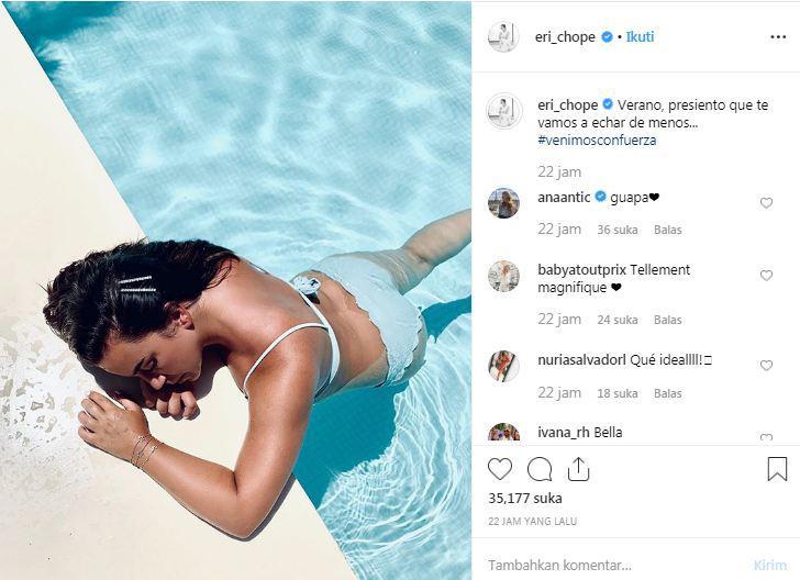 Griezmann Gabung Barcelona, Sang Istri Pamer Bagian Vital Sambil Curhat Copyright: Instagram @eri_chope