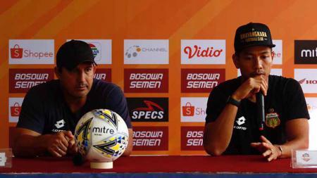 Bhayangkara FC melakukan konferensi pers pra pertandingan melawan PSM Makassar, Sabtu (12/7/19). - INDOSPORT