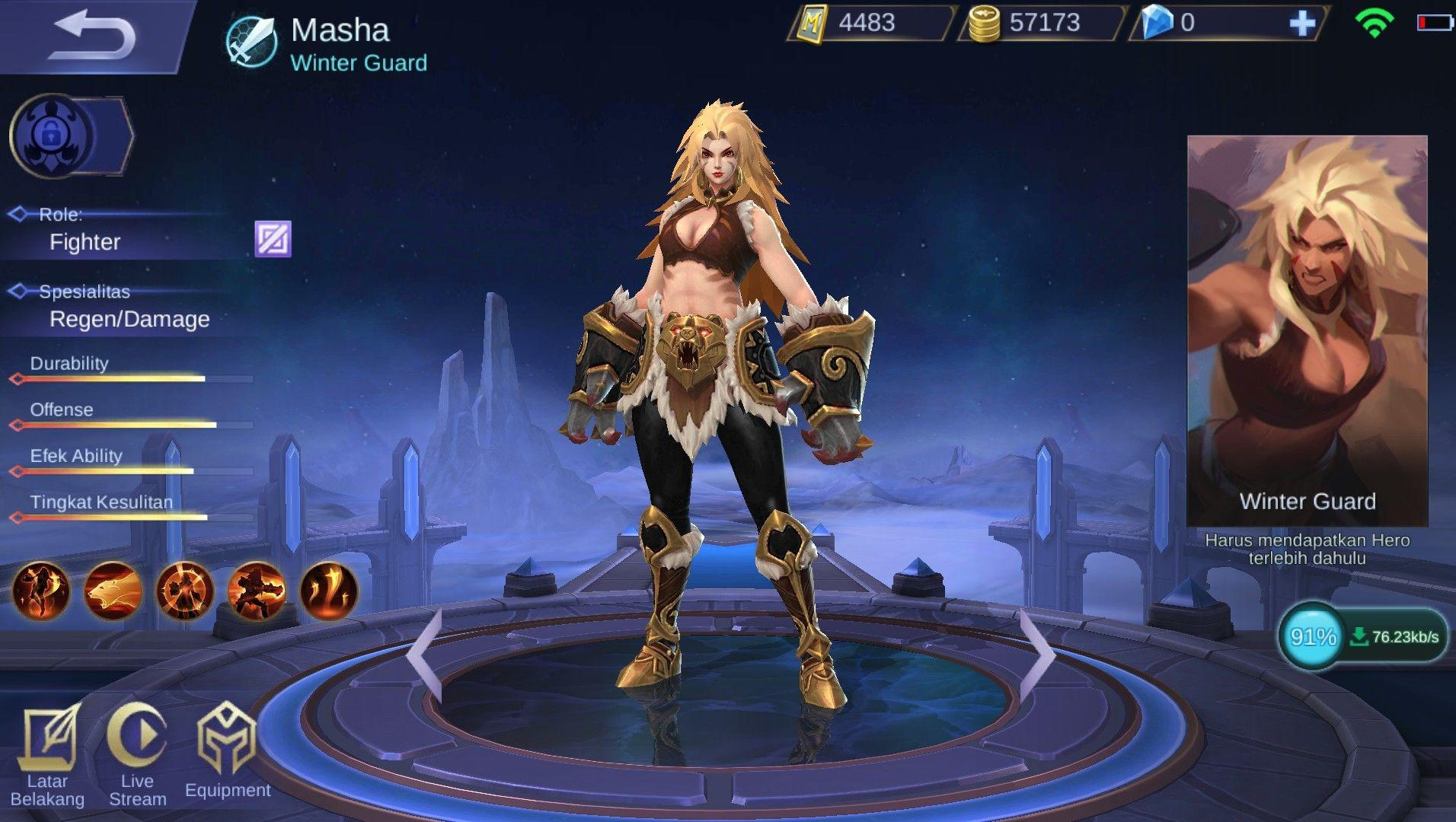 Masha Hero Fighter Anyar Rasa Tank Di Game ESports Mobile
