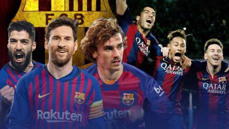 Jika Neymar gabung ke Barcelona di bursa transfer musim panas, Barcelona akan punya trio MSG dan MSN. - INDOSPORT