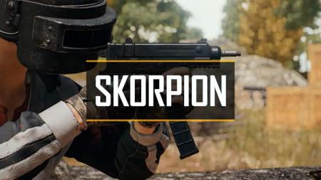 Senjata Skorpion merupakan senjata yang memiliki bentuk meyerupai handgun dan damage setara Sub Machine Gun (SMG). - INDOSPORT
