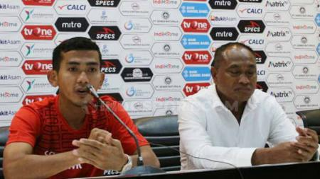Pelatih Sriwijaya FC, Kas Hartadi, berkomentar usai kalah di kandang sendiri, setelah ditekuk Persita Tangerang pada pekan kelima Liga 2 2019. - INDOSPORT