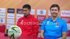 Indosport - Konferensi Pers PSM Makassar Pasca Pertandingan melawan Bhayangkara FC di Stadion Andi Mattalatta, Makassar, Sabtu (13/07/19), dihadiri oleh pemain Abdul Rahman, dan pelatih Darije Kalezic.