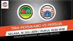 Indosport - Pertandingan Tira-Persikabo vs Persija Jakarta.