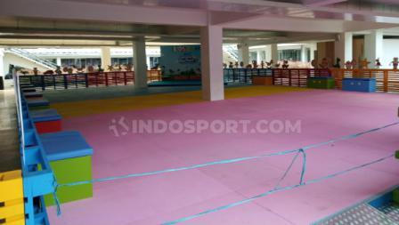 Area bermain untuk anak-anak di Kids Zone Istora Indonesia Open 2019. Foto: Herry Ibrahim/INDOSPORT