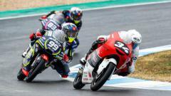 Indosport - Hasil FIM CEV Moto3 Aragon 2021: Mario Aji Kembali Alami Crash.
