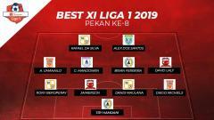 Indosport - Best Starting Liga 1 2019 pekan ke-8.