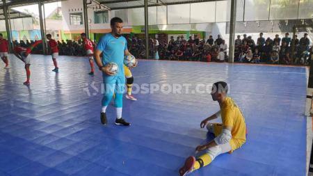 Dalam laga uji coba menghadapi Vamos Mataram, Timnas Futsal Indonesia takluk dengan skor 4-6. - INDOSPORT