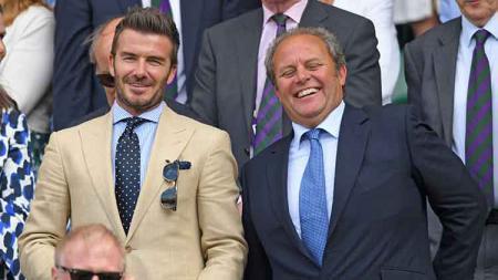 David Beckham rutin menonton laga Wimbledon dari tahun ke tahun. - INDOSPORT