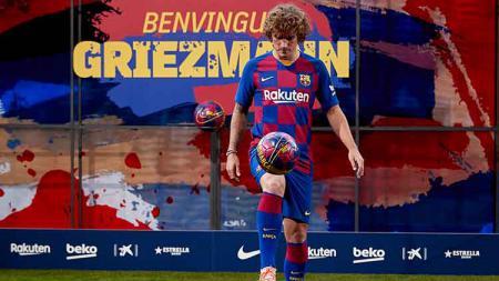 Antoine Griezmann mulai menunjukkan skill dengan mencetak brace untuk Barcelona di pertandingan LaLiga Spanyol 2019/20, Senin (26/08/19) dini hari WIB. - INDOSPORT