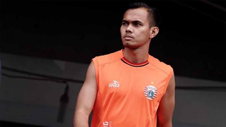 Bek kiri Persija Jakarta, Rezaldi Hehanusa kembali masuk skuat pasca mengalami cedera panjang. Foto: media Persija Copyright: media Persija