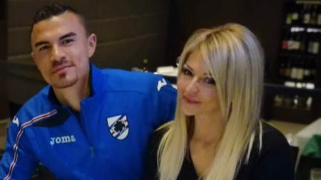 Emil Audero bersama sang kekasih, Federica. - INDOSPORT