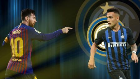 Bintang Barcelona, Lionel Messi, pernah meminta raksasa LaLiga Spanyol itu untuk mendatangkan empat pemain ini, dimana salah satunya adalah Lautaro Martinez. - INDOSPORT