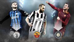 Indosport - Menanti efek domino antar raja gol Serie A yang melibatkan Juventus, Roma dan Inter. Foto: footyrenders.com