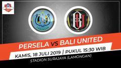 Indosport - Pertandingan Persela Lamongan vs Bali United.