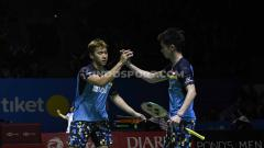 Indosport - Ganda putra Indonesia, Kevin Sanjaya/Marcus Fernaldi Gideon