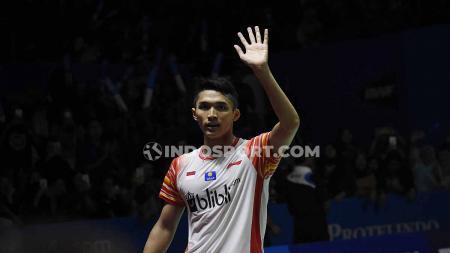 Mengenang momen kemenangan pebulutangkis tunggal putra Indonesia, Jonatan Christie, di turnamen Australia Open 2019. - INDOSPORT