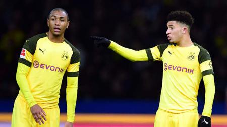Dua bintang Borussia Dortmund, Abdou Diallo (kiri) dan Jadon Sancho - INDOSPORT