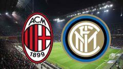 Indosport - Logo AC Milan dan Inter Milan.